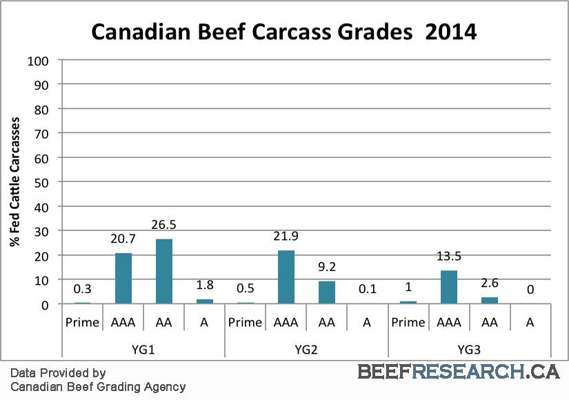 Canadian Beef Carcass Grade 2014